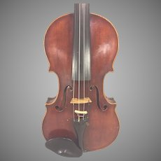 Antique Johan Martin Hofman Violin w/ Case 1 Piece Belly and Back