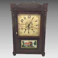 Antique Samuel Terry Clock Case Splat & Column with Brass Movement Not Running & Striking