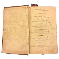 Domestic Medicine or A Treatise on the Prevention & Cure of Diseases Antique Book 1801 by William Buchan MD