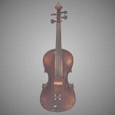 Antique Garpate Da Soto in Bregno Violin w/ Case 1Piece Belly 2 Piece Back