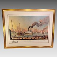 """""""Baltimore"""" Artist Proof Print by Paul McGehee 1/95 w/ Remarque Professionally Framed & Matted 1980"""