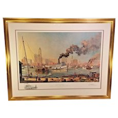 """Baltimore"" Artist Proof Print by Paul McGehee 1/95 w/ Remarque Professionally Framed & Matted 1980"