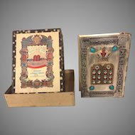 Vintage Judaic Siddur Prayer Book w/ Metal Covers and Box Originally Came In  Tel Aviv Israel