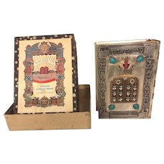 Vintage Judaic Siddur Prayer Book w/ Metal Covers and Box Originally Came In  Tel Aviv Israel