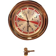 "Vintage Chelsea Brass Ship's Radio Room Clock w/ Indicators Not Running 7.25"" Bezel Serial # 236216 1939 Brass Case"