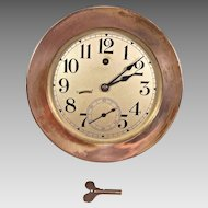 "Vintage Seth Thomas Ship's Wall Clock w/ Seconds Hand Runs! 7.25"" Bezel"