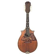 Vintage DeLuccia Brothers 8 String Mandolin    Older Martin Neck or Original  w/ Case