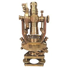 Antique Brass Theodite Survey Transit No Maker Mark No Case or Tripod