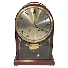Antique Winterhalder and Hofmeier Clock with Rare Mahogany and Beveled Glass  Bailey Banks & Bid