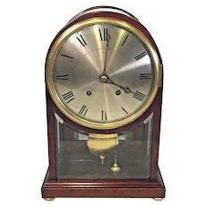 Antique Winterhalder and Hofmeier Clock with Rare Mahogany and Beveled Glass  Bailey Banks & Bid