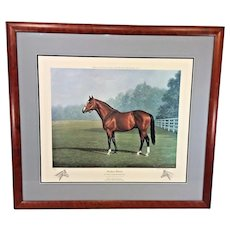 "Richard Stone Reeves  ""Northern Dancer"" Limited Edition Lithograph Remarques Framed & Matted"