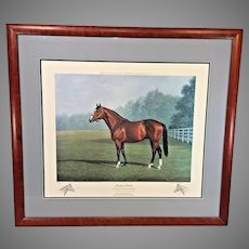 """Richard Stone Reeves  """"Northern Dancer"""" Limited Edition Lithograph Remarques Framed & Matted"""