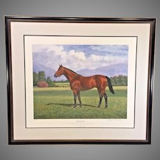 "Richard Stone Reeeves ""Seabiscuit"" Limited Edition Lithograph # 68 of 500 Framed and Matted  No Remarques"