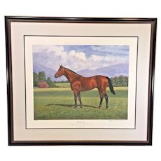 """Richard Stone Reeeves """"Seabiscuit"""" Limited Edition Lithograph # 68 of 500 Framed and Matted  No Remarques"""