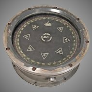 ARMA Corporation Repeater Gyro Compass Model 8 Glass Intact Metal Case WWII Era