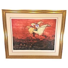 Vintage   Jean-Pierre Martinez, Horse RacingColor Etching Limited Edition  # 9 of 90