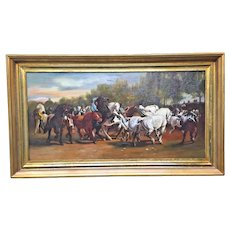 """The Horse Fair"" by Rosa Bonheur, Oil on Canvas Vintage Reproduction"