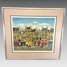 """Michel Delacroix """"A La Manille""""   Limited Edition Lithograph No. 51 of 150   Framed and Matted   Pencil Signed No Certificate of Authenticity"""