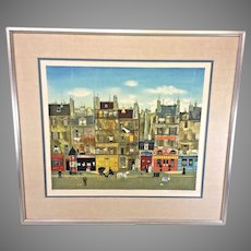 "Michel Delacroix ""A La Manille""   Limited Edition Lithograph No. 51 of 150   Framed and Matted   Pencil Signed No Certificate of Authenticity"