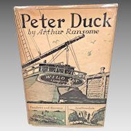 Peter Duck by Arthur Ransome 1st Edition w/ Dust Cover 933 Lippincott Philadelphia, PA  Famous Owner in Edmund Carpenter II