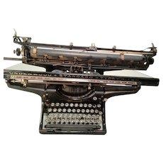 "Underwood Standard Model #3 Typewriter 20"" Wide Carriage Wheel - 1928"