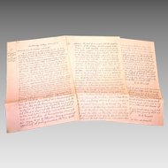 Rowland Langford Correspondence and Deeds 1820-1844 Bradford County Pennsylvania and Tyningham, Massachusetts