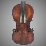 Antique German Violin W&S w/ Lyre Label (Wunderlich) Leipzig Germany 2 Piece Belly 1 Piece Back