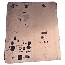 Ant Ferdinand Moras Lithographic Stone 1821-1908 Double Sided Images Granite #24