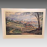 Old Richmond on the James Limited Edition Print Paul McGehee 1996 Romantic South Series