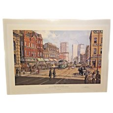 Paul McGehee Old Atlanta Peachtree Street Limited Edition Print Unframed