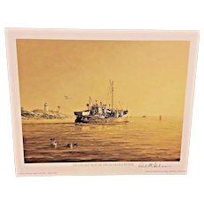 Paul McGhee Print Outward Bound from Gloucester 1981 Pencil Signed Small Folio
