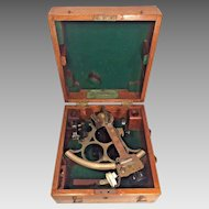 Vintage Huson Sextant in Nice Wood Case H Hughes & Son London Made for Kelvin Wilfrid White Co of Boston Serial # 41660