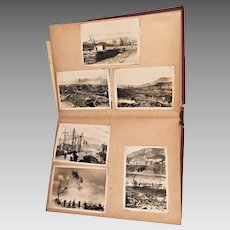 Vintage Nagasaki and Hiroshima Nuclear Aftermath World War II Photos US Military Occupation Forces Photos   and Japan Tourist Cards in Album