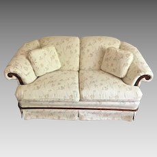 Provincial Style Matching Sofa Love Seat and High Back Chair Nice Condition  Made by Trend Line Furniture