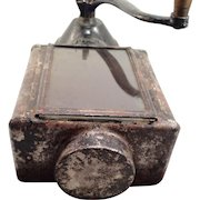 Antique N.C.R.A. Coffee Grinder with Mounting Board