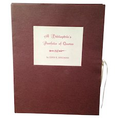 Book of Quotes by Famous People Signed by John F. Dingman Posthorn Press
