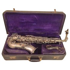 Vintage 1930s Rudolph Wurlitzer American Low Pitch A Saxophone with Case Serial # 193005