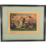 Currier and Ives Lithograph Death of General Lyon 1st Edition 1861