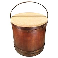 19th Century Antique American Folk Art Bucket Pantry Box