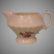 Antique Copeland Spode Billingsley Rose China Pink Creamer Old Red Mark
