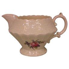 Antique Copeland Spode Billingsley Rose China Pink Creamer Old Red Mark