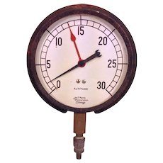 Vintage James P March Corp Altitude Gauge Chicago IL