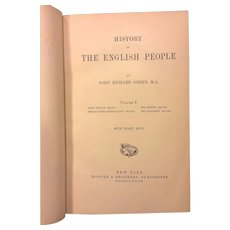 History of the English People 4 Volume Set 1882 John R Green Plus The Making & Conquest of England Volumes