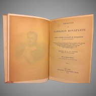 Memoirs of Napoleon Bonaparte 3 Volume Set by Louis Bourrienne Private Secretary
