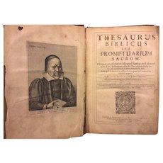 First Edition Rare Book Thesaurus Biblicus Seu Promptuarium Sacrum  1644/1642  Richard Bernard, England