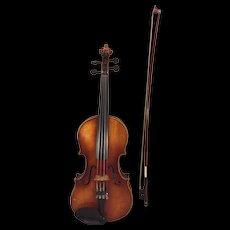 Vintage E R Pfretzschner Violin w/ Violin Bow & Hard Case 1962 Antonius   Stradivarius Model