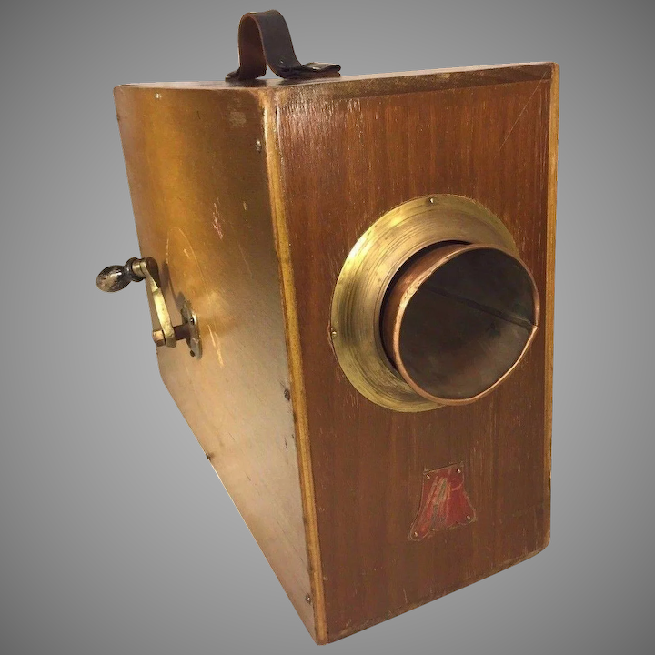 Antique Portable Rotary Foghorn In Wood Case Metal Labels Makes Noise Timelesstokensde Ruby Lane