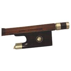 Vintage Albert Nurnberger Violin Bow Pernambuco Wood Germany Early 1900s