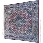 Vintage Bijar Carpet 5' by-5' Beautiful Coloring and Details Hand-Woven-India