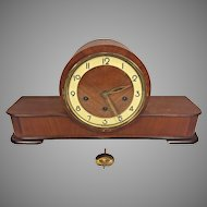 Vintage German Wood Case Mantel Clock  by Forestville of Canada  Westminster Chimes Runs  8 Rod Chime Rods and Strike Hammers